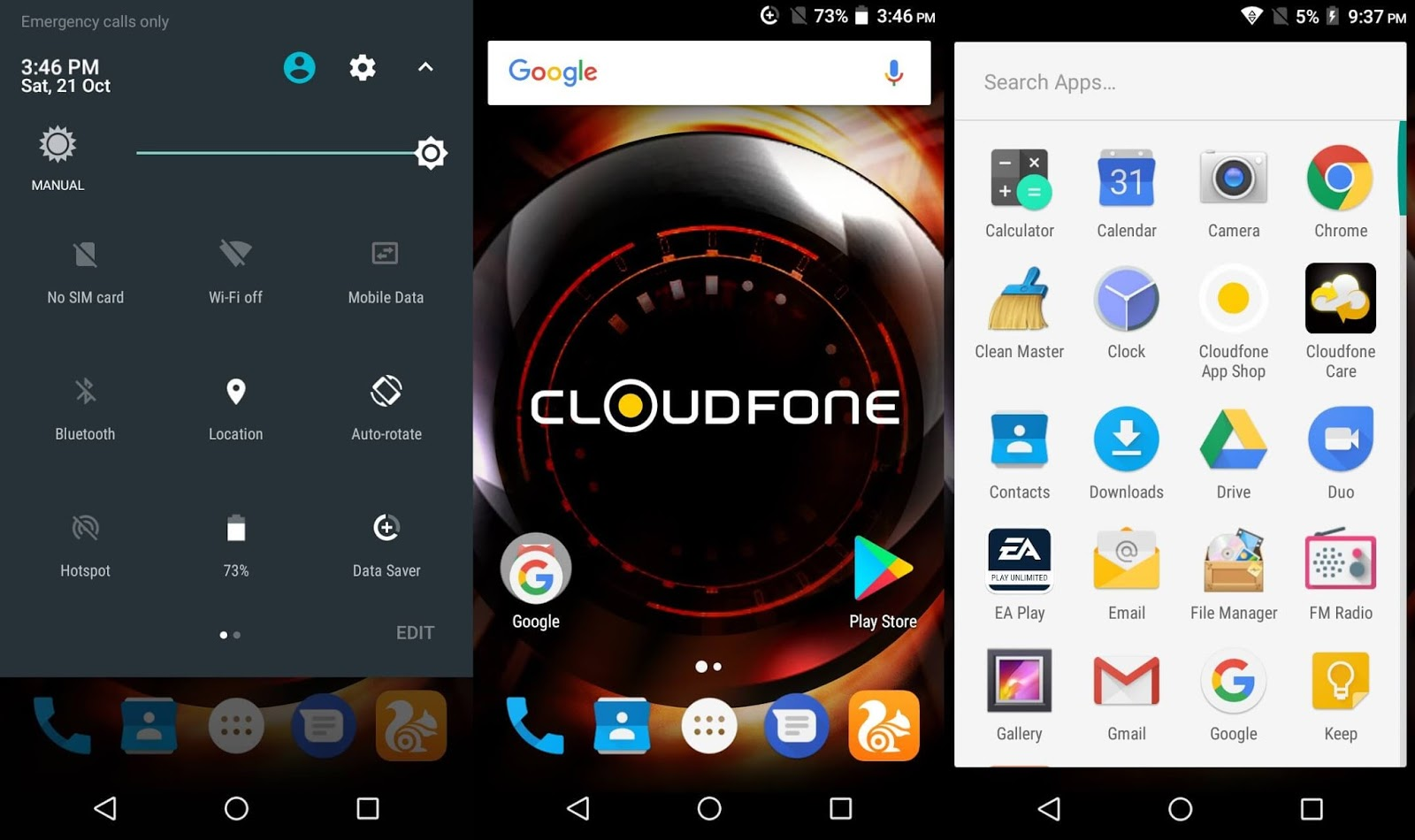 Cloudfone Excite Prime 2's Software