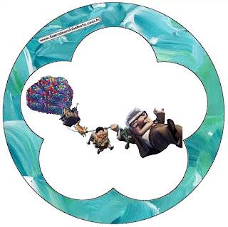 Película de Pixar Up: Wrappers y Toppers para Cupcakes para Imprimir Gratis.