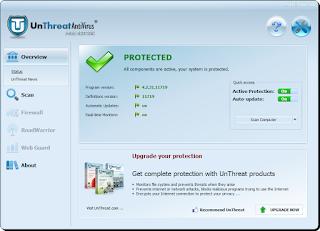 تحميل برنامج مسح الفيروسات من الكمبيوتر UnThreat Free AntiVirus