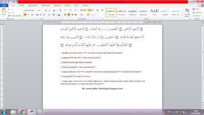 Quran in word terbaru