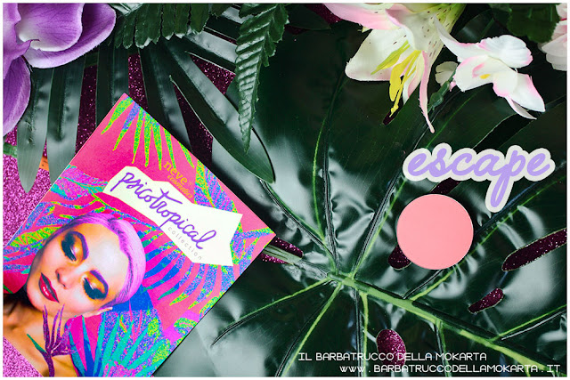 blush fard ESCAPE psicotropical collection neve cosmetic PACKAGING