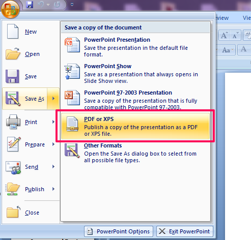 how to add pdf to powerpoint 2007