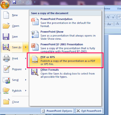 save as pdf from microsoft office 2007
