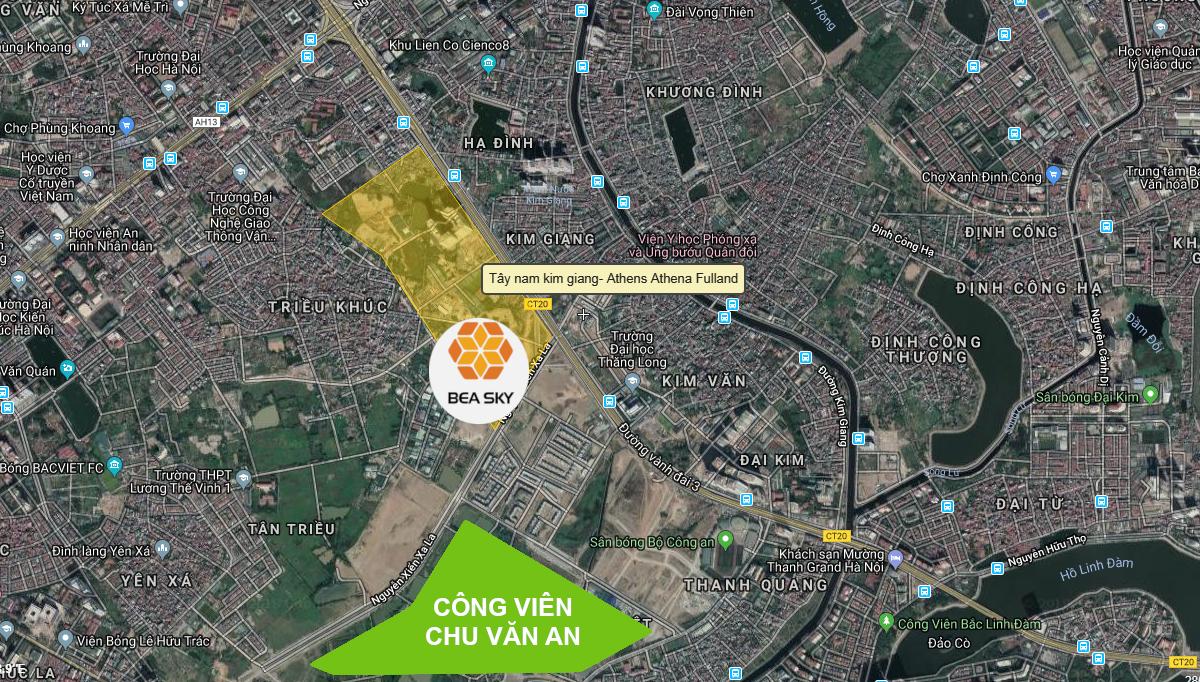 Vị trí dự án Bea Sky Nguyễn Xiển | 3D Google Map
