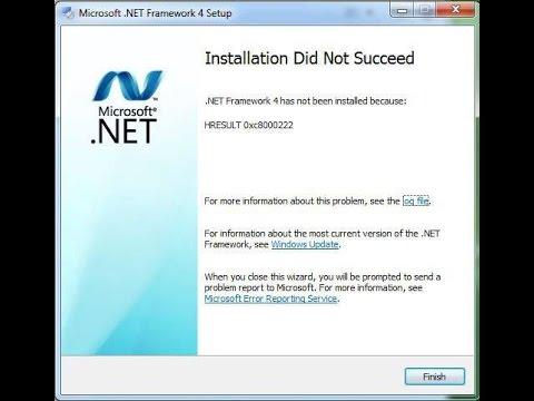 حل مشكلة net framework في ويندوز 10 , 8 , 7 , xp و وجود رساله الخطأ net framework did not succeed