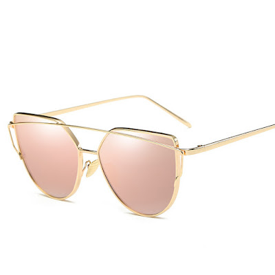 Cat-eye vintage mirror sunglasses