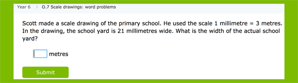 Scale word problems