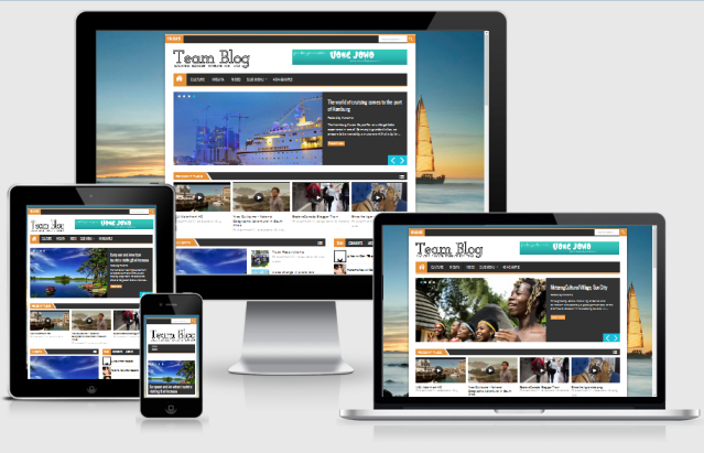 Team Blog Responsive Magazine Blogger Template