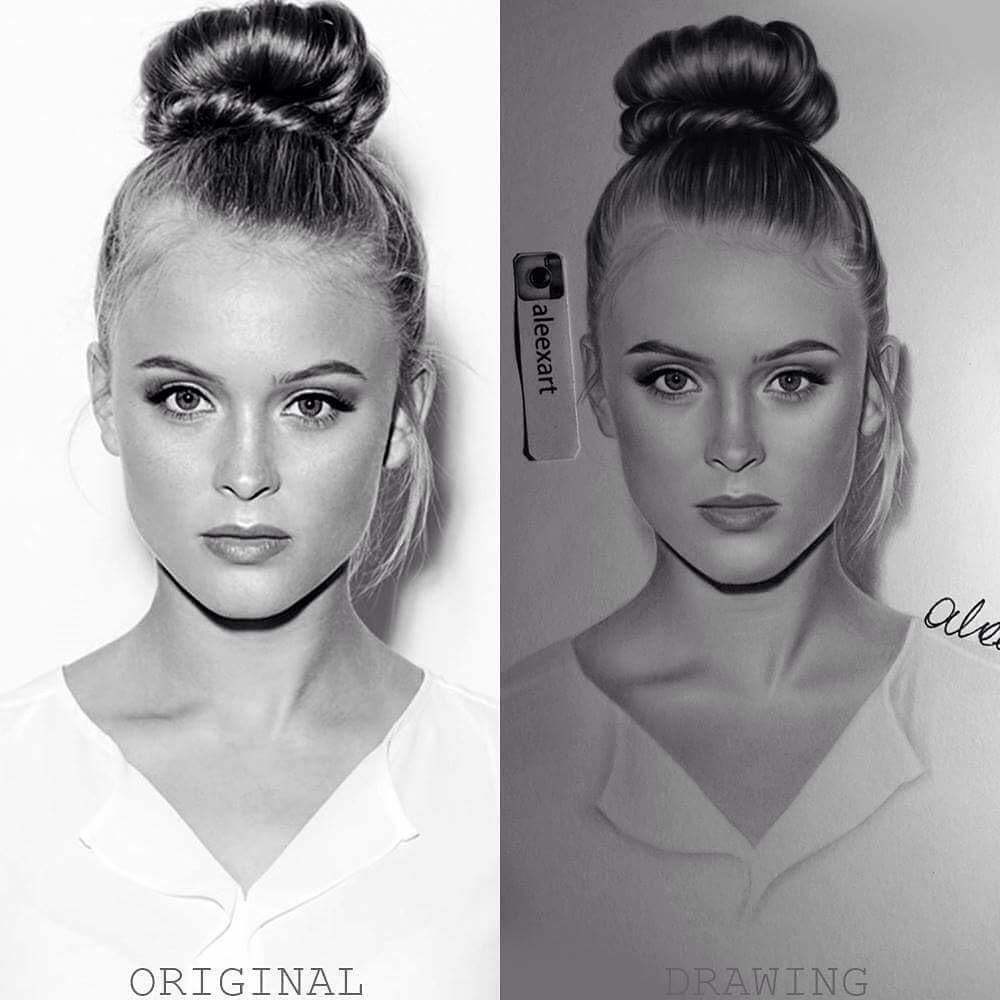 13-Zara-Larsson-Alex-Manole-Black-and-White-Hyper-Realistic-Portraits-of-Celebrities-www-designstack-co