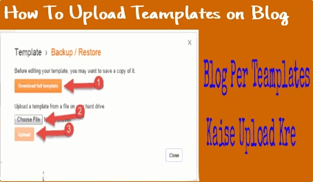 Blog Per Templates Upload Kaise Kre
