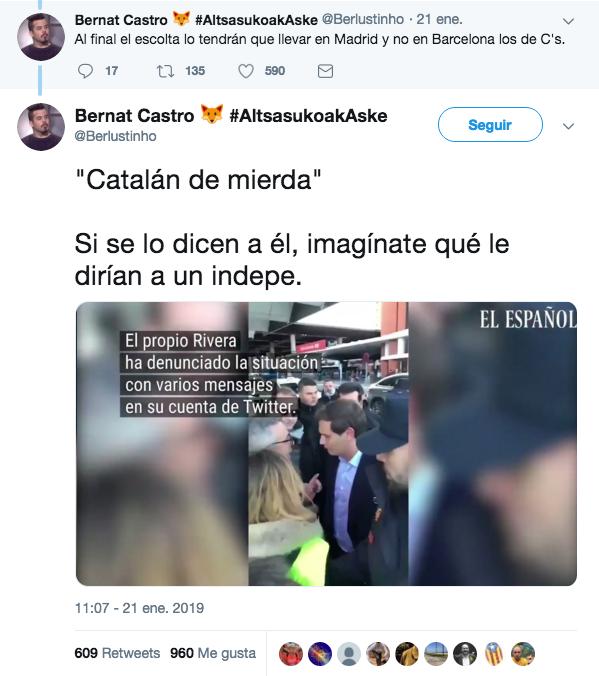 Albert Rivera catalán de mierda