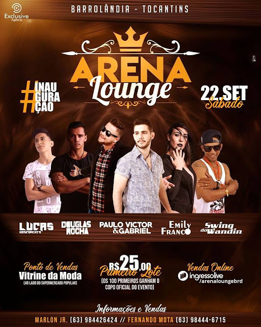 programação arena lounge barrolandia