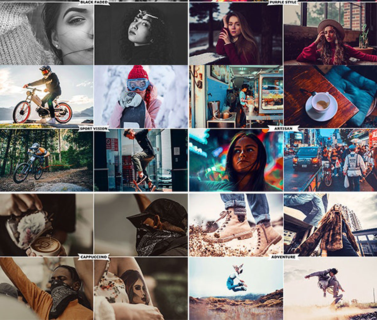 8 IN 1 Photoshop Actions Bundle 27450364 Free