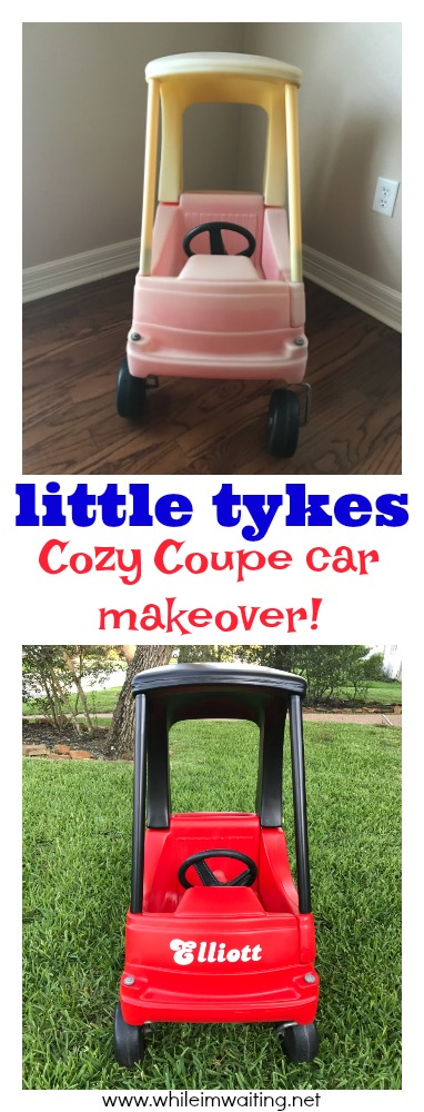 Before & After: a Little Tykes Cozy Coupe makeover