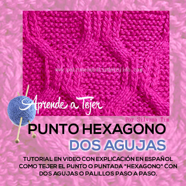video tutorial punto hexagono tricot