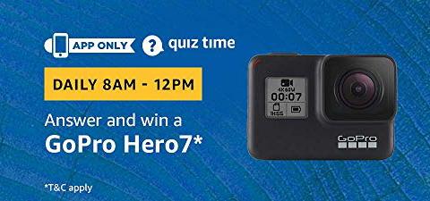 Amazon Quiz 19 February 2019 Answers – Win GoPro Hero 7