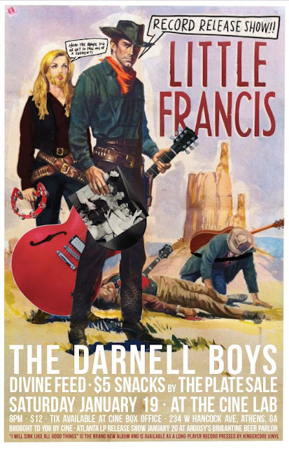 The Darnell Boys play at the Little Francis record release show! Saturday, January 19 @ 8:00 pm. @ the Cine Lab. Admission $12!
