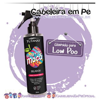 Spray Vinagre de Maça Tutanat (Low Poo)