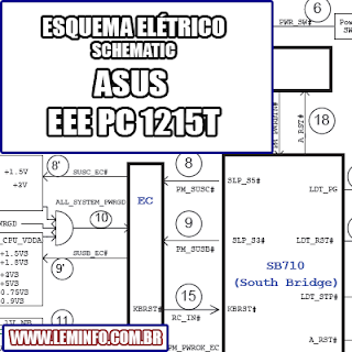 Esquema Elétrico Notebook ASUS EEE PC 1215T Laptop Manual de Serviço  Service Manual schematic Diagram Notebook ASUS EEE PC 1215T Laptop     Esquematico Notebook ASUS EEE PC 1215T Laptop