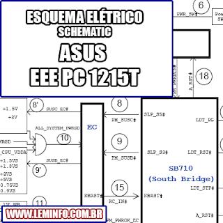 Esquema Elétrico Notebook ASUS EEE PC 1215T Laptop Manual de Serviço  Service Manual schematic Diagram Notebook ASUS EEE PC 1215T Laptop     Esquematico Notebook ASUS EEE PC 1215T Laptop