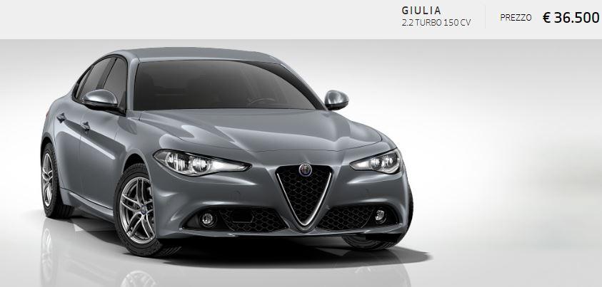 Alfa Romeo Giulia colore Metallizzato-Grigio Stromboli