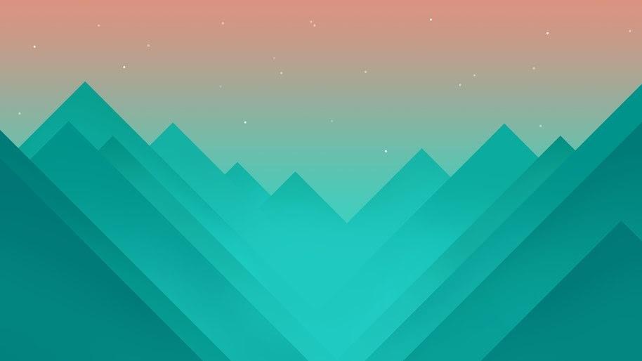 Minimalist, Valley, Mountain, Abstract, Digital Art, 8K, #42