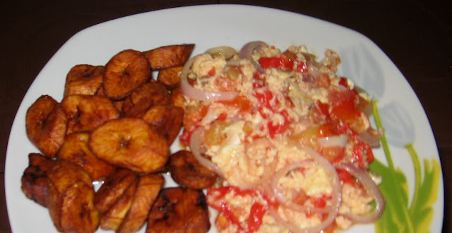 dodo ripe plantain with egg sauce