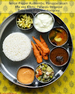 South Indian lunch menu 54