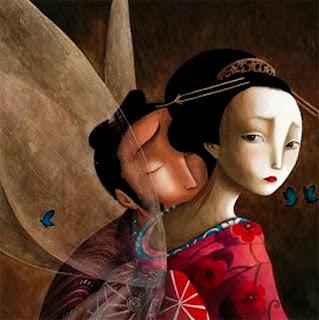 Mirada melancólica del libro Los Amantes Mariposa, escrito e ilustrado por el ilustrador francés Benjamin Lacombe