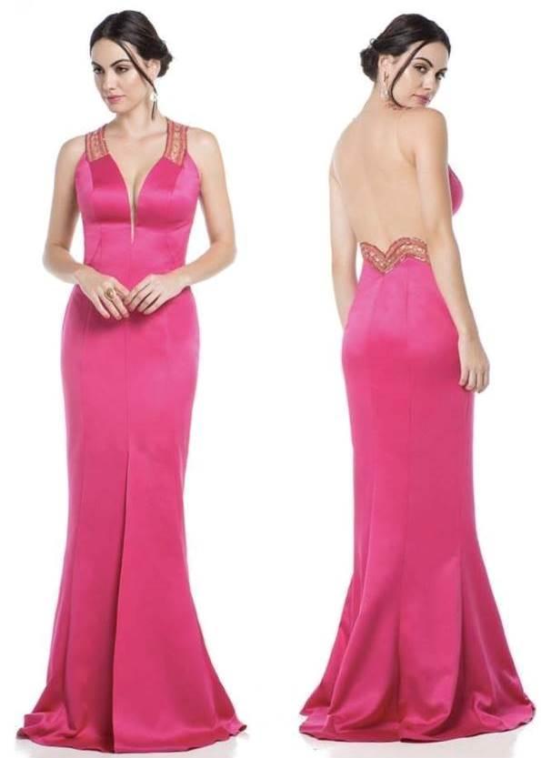 vestido rosa para formatura ou madrinha