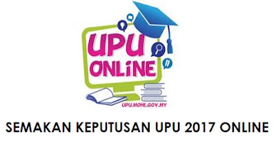 Semakan Keputusan UPU Ke UA Sesi 2017/2018 Bagi Lepasan STPM/Setaraf