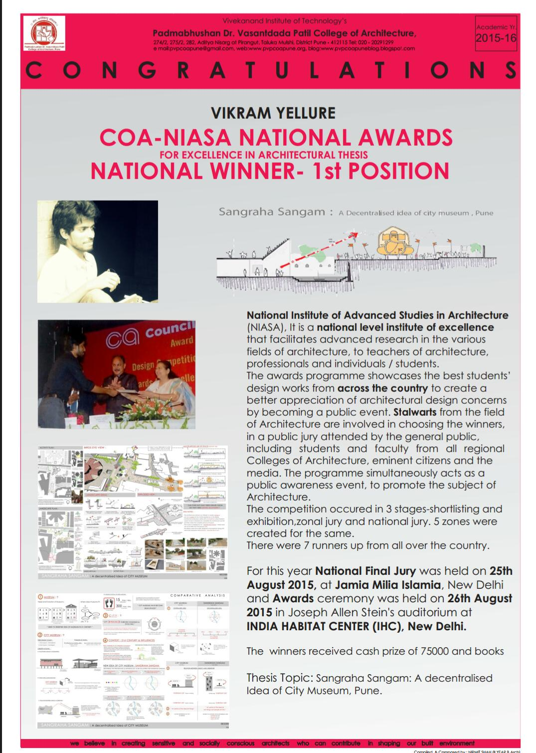 niasa thesis awards 2012
