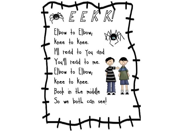 First Grade Fanatic!: EEKK!!!!! Partner Reading/Daily 5 poster