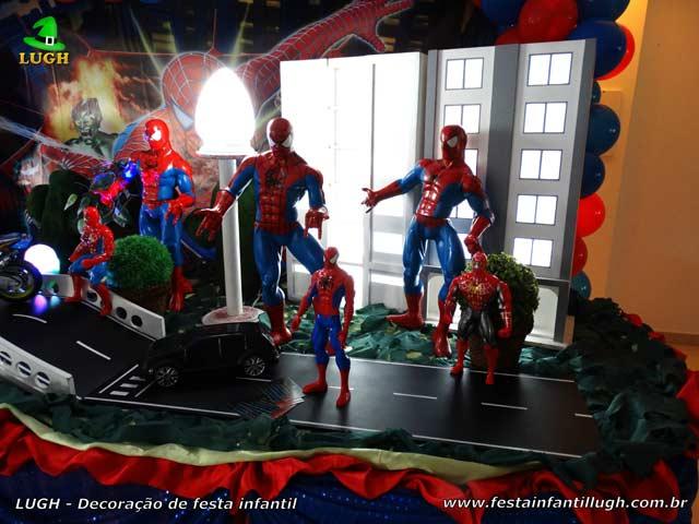 Decoração de festa infantil tema do Homem Aranha - Aniversário
