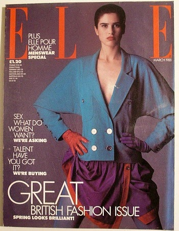 Elle Magazine March 1988