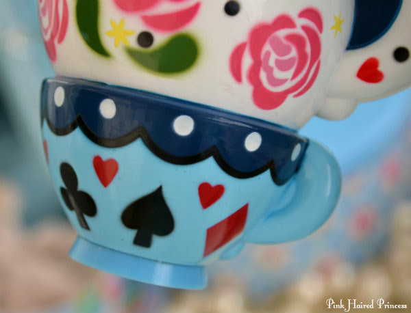 blue teacup heel base close up Alice in Wonderland