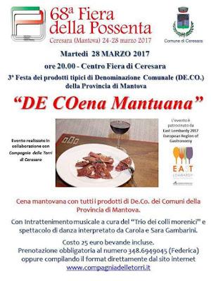 De Coena Mantuana 28 marzo Ceresara (MN)