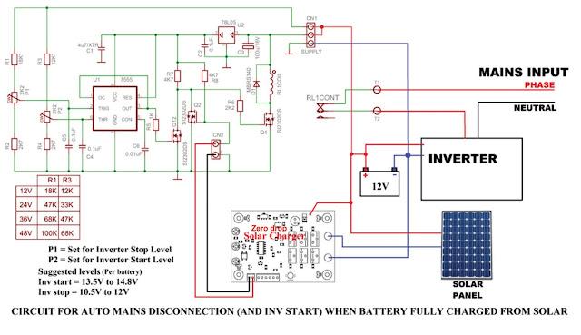 Fuji Electronics  Circuit For Solar Inverter Mode Selector