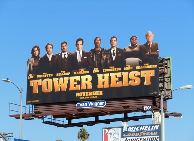Tower Heist cast billboard
