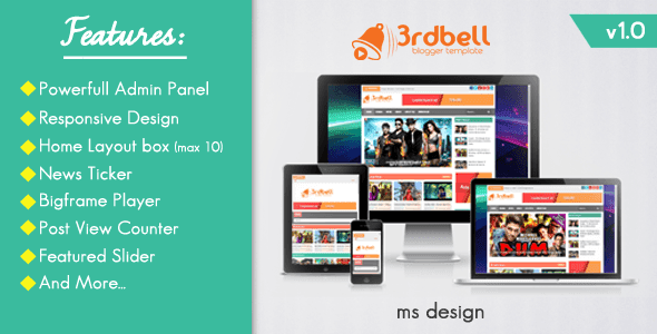3rdbell Responsive Video Blogger Template