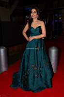 Raashi Khanna in Dark Green Sleeveless Strapless Deep neck Gown at 64th Jio Filmfare Awards South ~  Exclusive 047.JPG