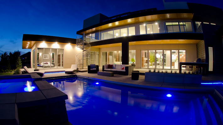 Wallpaper: Exterior pool of the house from Sunset Lane