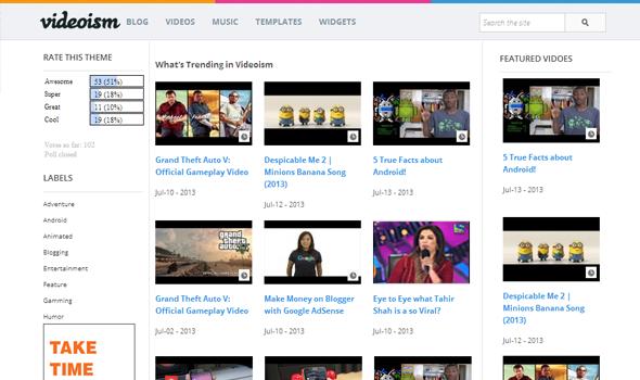 Videoism video blogger template