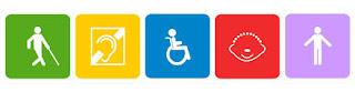 logotipos de diversas discapacidades