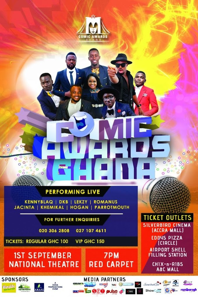 First Ghana comedy awards to be held September 1