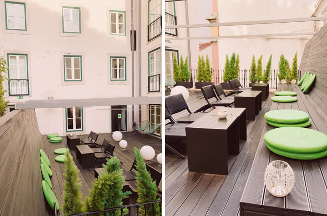 Where to stay in Lisbon - Gat Rooms Rossio - outdoor terrace