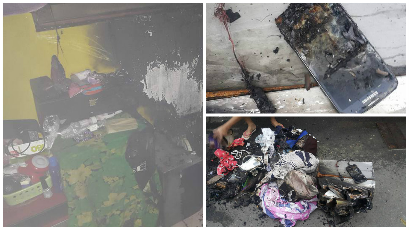 Room catches fire after Samsung S4 exploded due to improper charging
