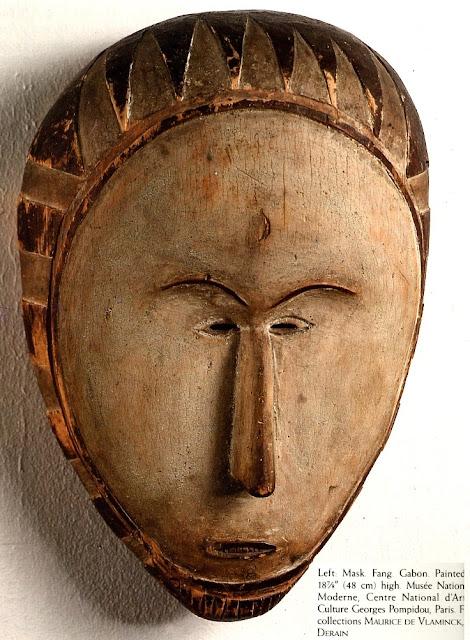 African mask, Fang Gabon mask, Primitivism, Maurice De Vlaminck, André Derain, white mask, African sculpture, African mask, wood mask, wood mask sculpture