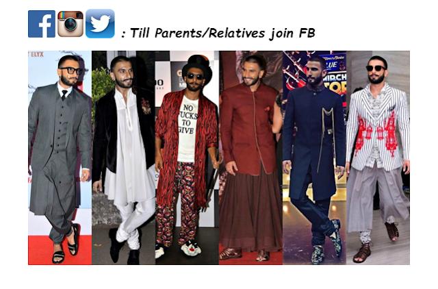 Ranveer Singh, Bollywood, Facets, Social Media, LinkedIn, Facebook, Twitter, Instagram