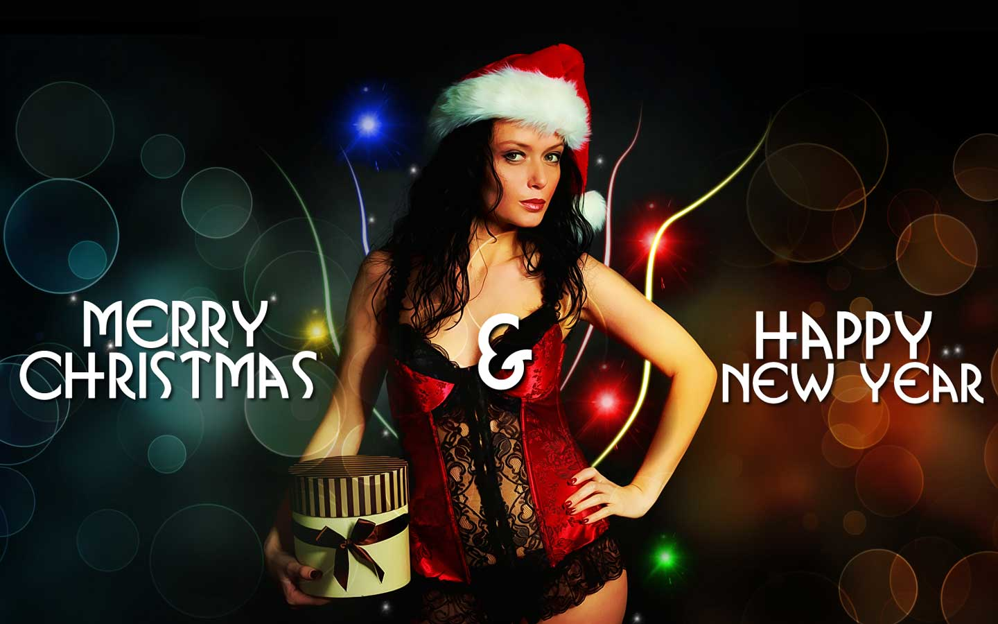 50 Beautiful Merry Christmas And Happy New Year Pictures: Pink Background: Hot And Sexy Christmas HD Wallpapers